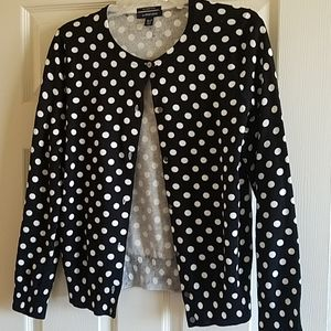 Polka dot cardi by Land's End